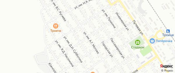 Улица им С.А.Леваневского на карте Троицка с номерами домов
