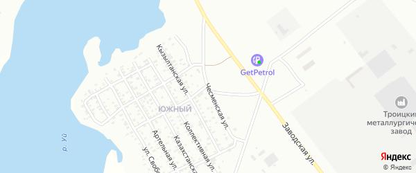 Чесменская улица на карте Троицка с номерами домов