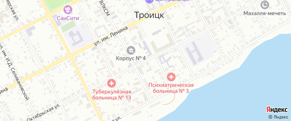 Октябрьская улица на карте Троицка с номерами домов