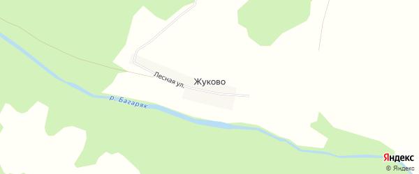 Карта деревни Жуково в Челябинской области с улицами и номерами домов