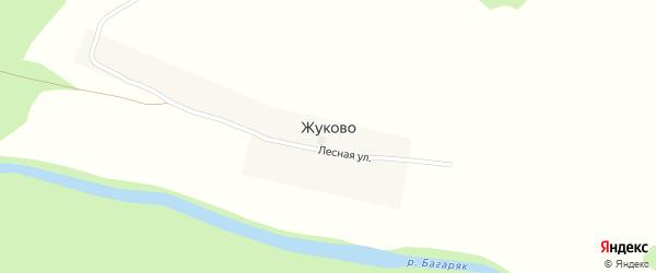 Лесная улица на карте деревни Жуково с номерами домов