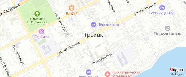 Центральная площадь на карте Троицка с номерами домов