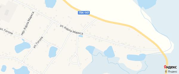Улица Карла Маркса на карте села Кунашака с номерами домов