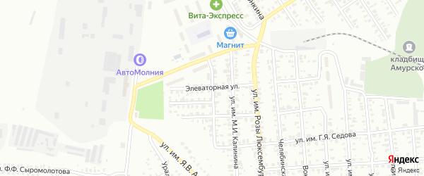 Новая Элеваторная улица на карте Троицка с номерами домов