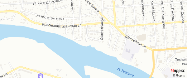 Улица 8 Марта на карте Троицка с номерами домов