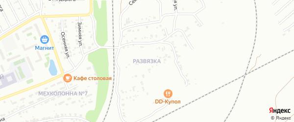 Поселок Развязка на карте Челябинска с номерами домов
