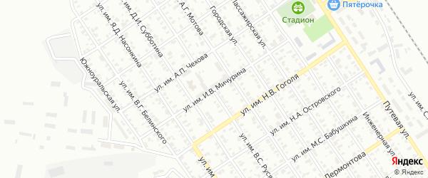 Улица им И.В.Мичурина на карте Троицка с номерами домов