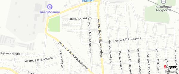 Улица им М.И.Калинина на карте Троицка с номерами домов