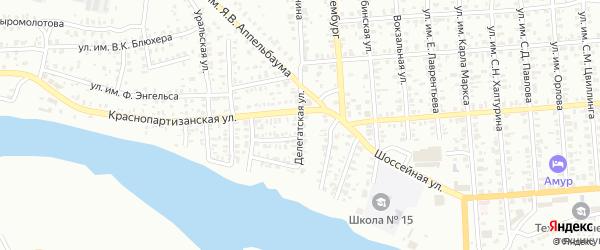 Делегатская улица на карте Троицка с номерами домов