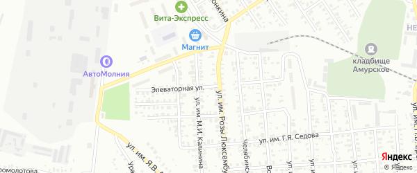 Элеваторная улица на карте Троицка с номерами домов