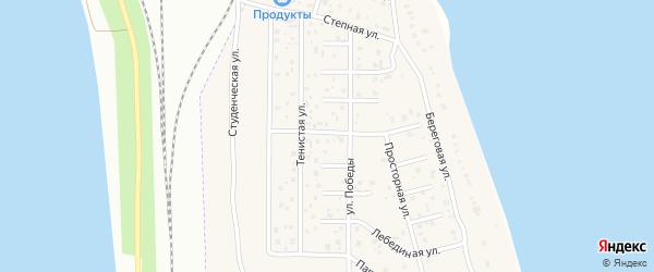Катерная улица на карте деревни Чурилово с номерами домов