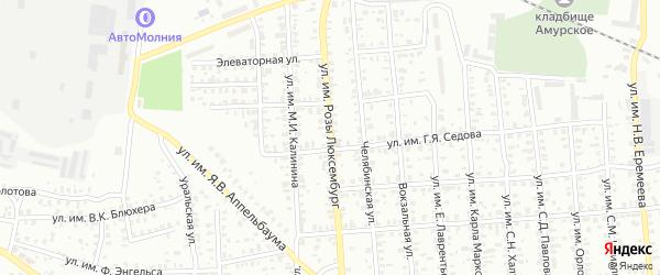 Улица им Розы Люксембург на карте Троицка с номерами домов