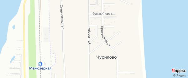 Цветочный переулок на карте деревни Чурилово с номерами домов