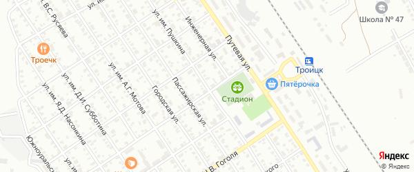 Улица им А.С.Пушкина на карте Троицка с номерами домов