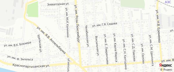 Челябинская улица на карте Троицка с номерами домов