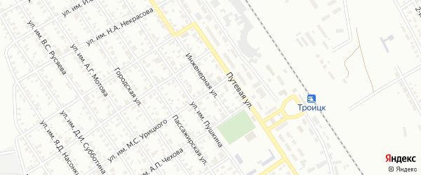 Инженерная улица на карте Троицка с номерами домов