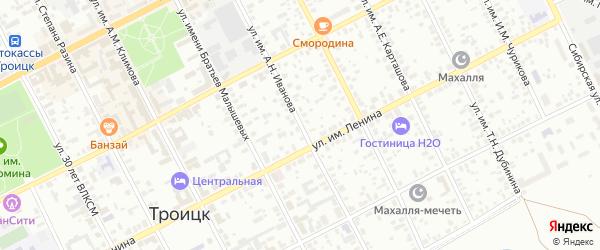Улица им А.Н.Иванова на карте Троицка с номерами домов