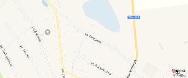 Улица Гагарина на карте села Кунашака с номерами домов