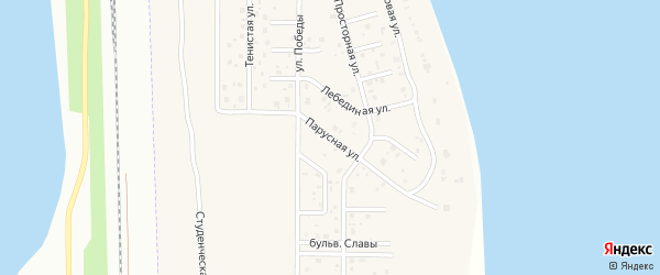 Парусная улица на карте деревни Чурилово с номерами домов