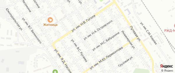 Улица им Н.А.Островского на карте Троицка с номерами домов