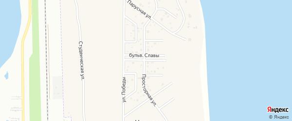 Улица Бульвар Славы на карте деревни Чурилово с номерами домов