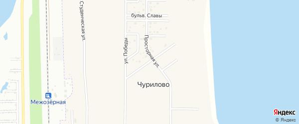 Рождественская улица на карте деревни Чурилово с номерами домов