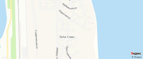 Просторный 4-й переулок на карте деревни Чурилово с номерами домов