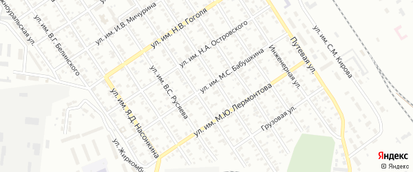 Улица Бабушкина на карте Челябинска с номерами домов