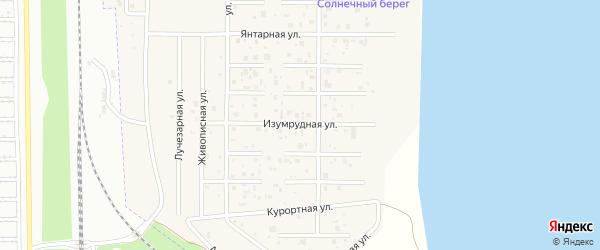 Изумрудная улица на карте деревни Чурилово с номерами домов