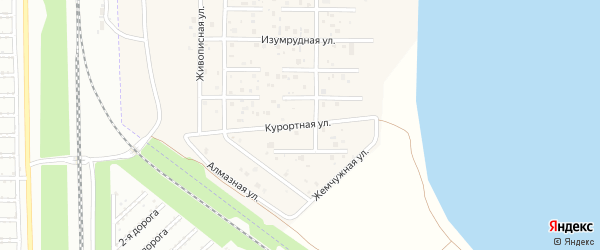 Курортная улица на карте деревни Чурилово с номерами домов