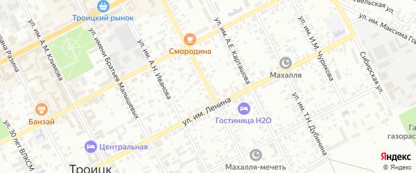 Улица им Г.Летягина на карте Троицка с номерами домов