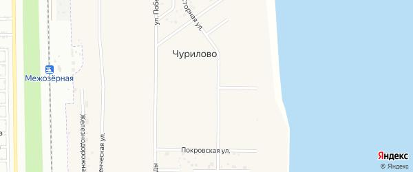 Спасская улица на карте деревни Чурилово с номерами домов