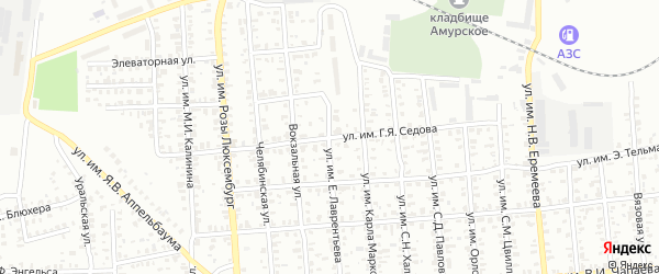 Улица им Г.Я.Седова на карте Троицка с номерами домов
