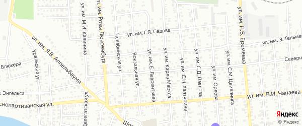 Улица им Е.Лаврентьева на карте Троицка с номерами домов