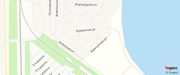 Курортный переулок на карте деревни Чурилово с номерами домов
