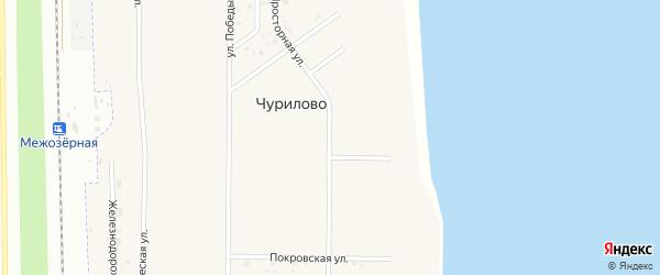 Просторная улица на карте деревни Чурилово с номерами домов