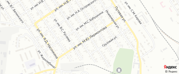 Улица им М.Ю.Лермонтова на карте Троицка с номерами домов