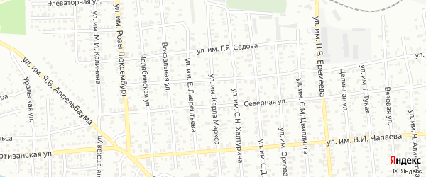 Улица им Карла Маркса на карте Троицка с номерами домов