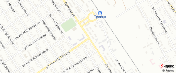 Путевая улица на карте Троицка с номерами домов