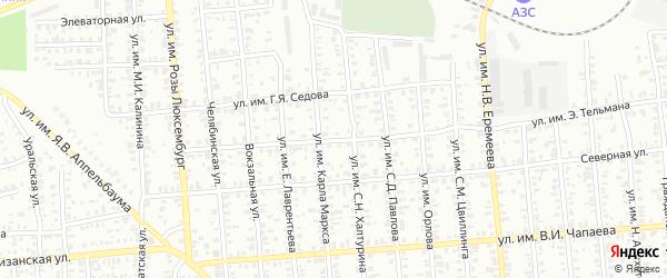 Улица им Э.Тельмана на карте Троицка с номерами домов