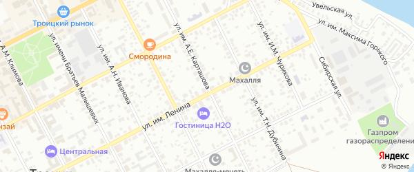 Улица им А.Е.Карташова на карте Троицка с номерами домов