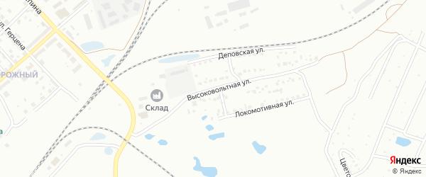Высоковольтная улица на карте Копейска с номерами домов