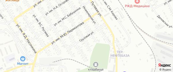 Грузовая улица на карте Троицка с номерами домов