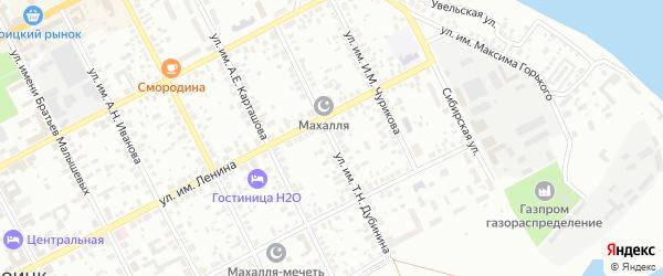 Улица им Т.Н.Дубинина на карте Троицка с номерами домов