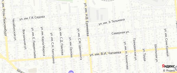 Улица им Н.В.Еремеева на карте Троицка с номерами домов