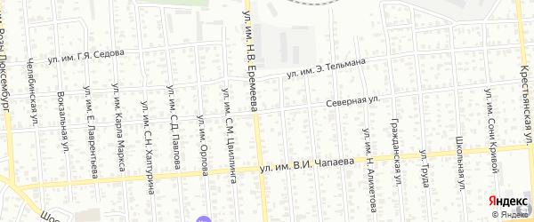 Северная улица на карте Троицка с номерами домов