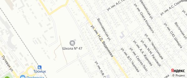 Складской 1-й проезд на карте Троицка с номерами домов