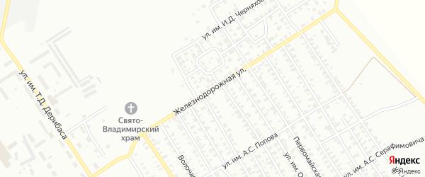 Железнодорожная улица на карте Троицка с номерами домов