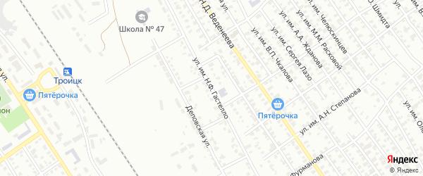 Улица им Н.Ф.Гастелло на карте Троицка с номерами домов