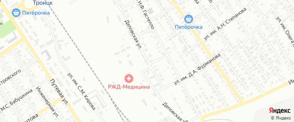 Деповская улица на карте Троицка с номерами домов
